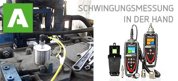Handliche und robuste Vibrationsmessgeräte für die mobile Schwingungsmessung.