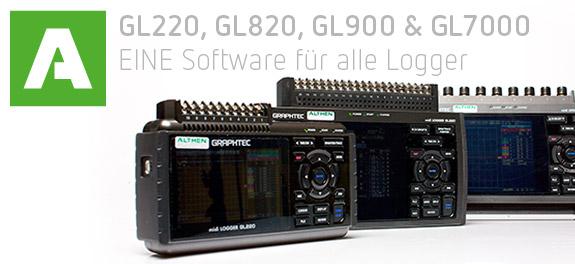 Gl220 Midi Data Logger : Eine software für alle datenlogger der midilogger serie